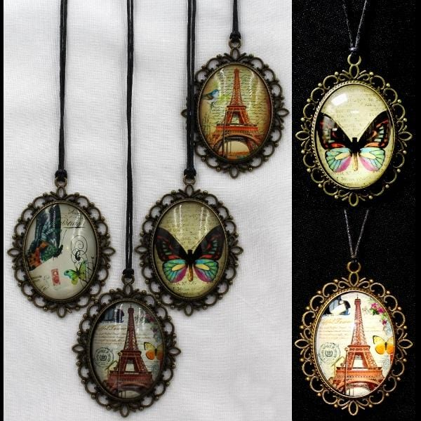 12 Vintage Cameo Necklaces ($2.45 each)-Bracelets & Jewelry-Peaceful People