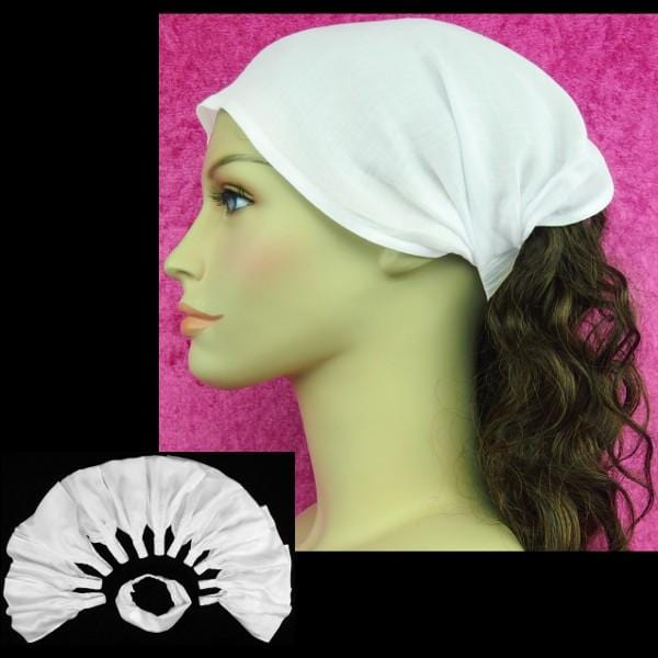 12 White Elastic Bandana-Headbands ($1.50 each)-Tie-Dye Blanks/White Clothing-Peaceful People