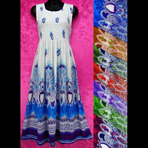 Taj Tank Sarong Dress-Special Deals (reduced prices)-Peaceful People