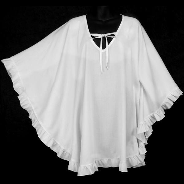Premium White Cloak Top-Tops-Peaceful People