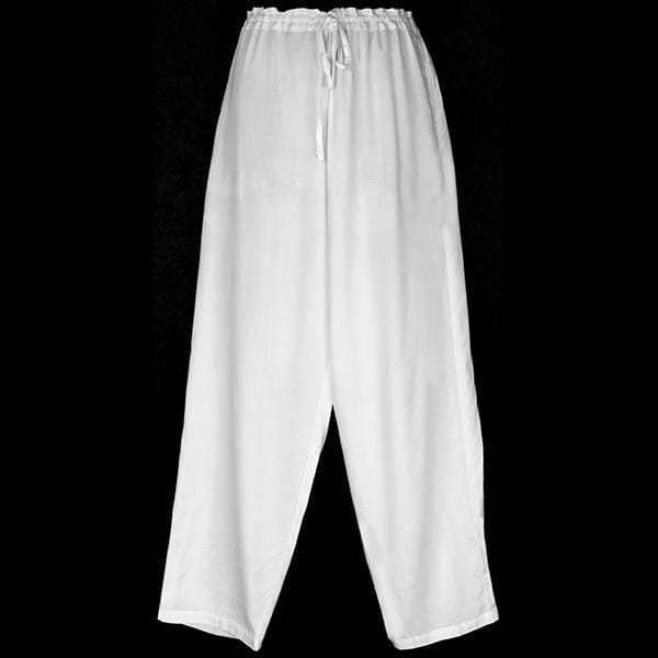 White Drawstring Pants-Pants-Peaceful People