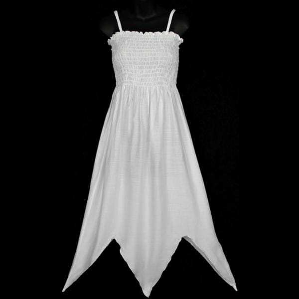 White Fairy Sarong Dress-Dresses-Peaceful People