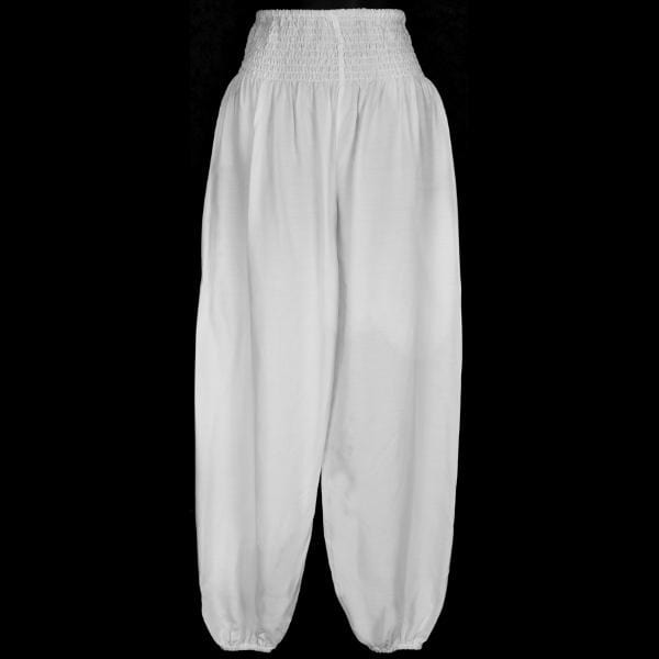 Premium White Lounge Pants-Pants-Peaceful People