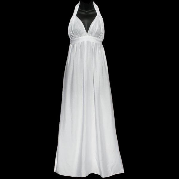 Emma's Long White Rayon Dress-Dresses-Peaceful People