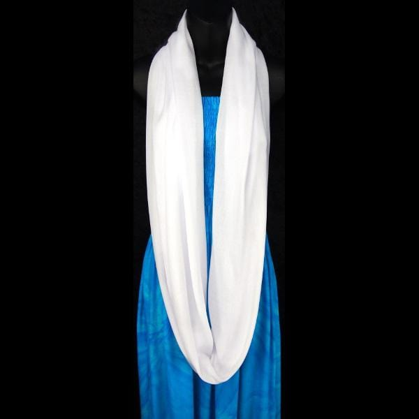 White Infinity Scarf-Tie-Dye Blanks/White Clothing-Peaceful People