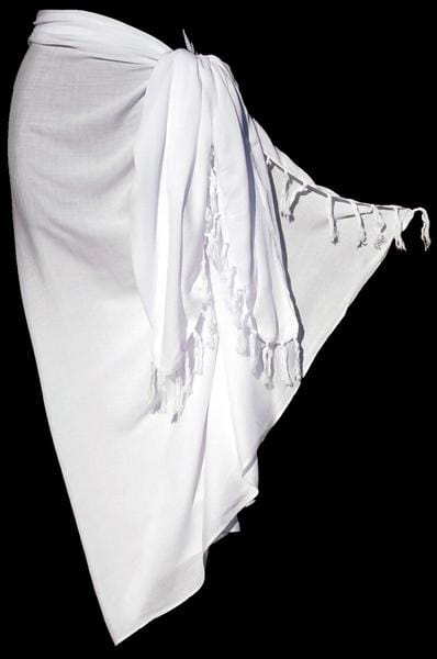 Plain White Sarongs-Sarongs-Peaceful People