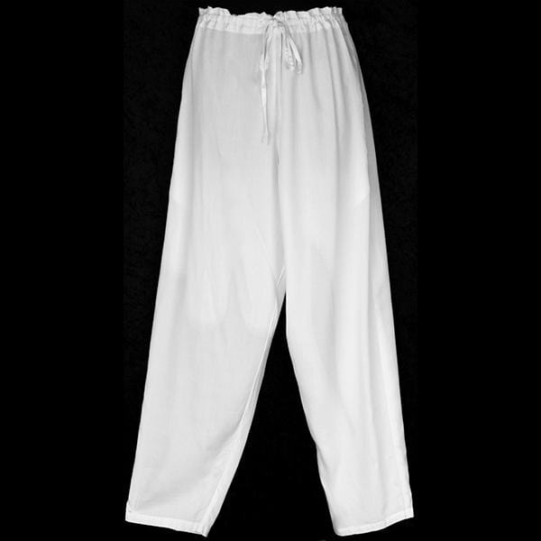 Premium White Drawstring Pants-Pants-Peaceful People
