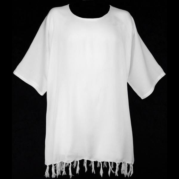 White Pullover Shirt-Tops-Peaceful People