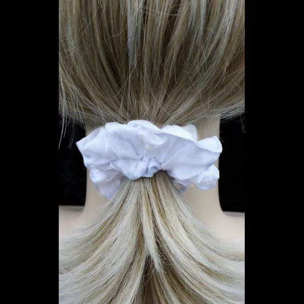 50 White Hair Scrunchies ($0.65 each)-Tie-Dye Blanks/White Clothing-Peaceful People