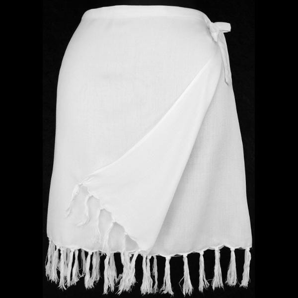 6 White Short Wrap Skirts ($3.25 each)-Skirts-Peaceful People