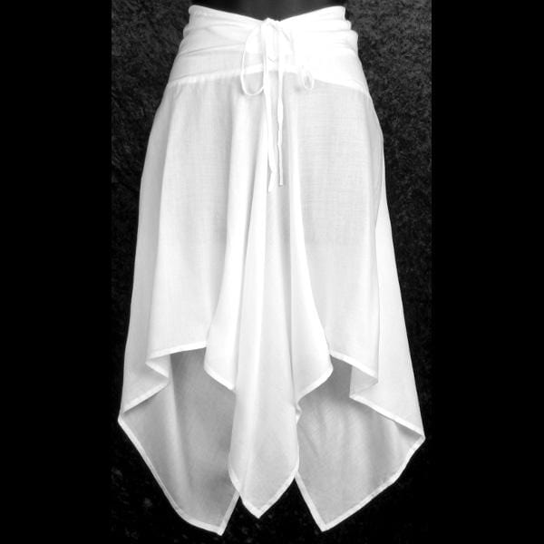 White Convertible Top/Skirt-Tops-Peaceful People