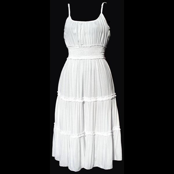 Wendy's White Rayon Dress-Dresses-Peaceful People