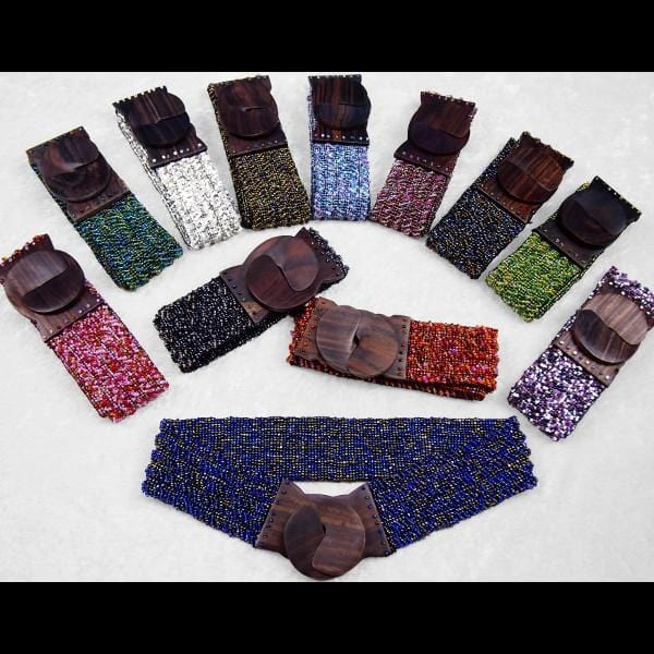 12 Mixed Bead Belts ($4.95 each)-Bracelets & Jewelry-Peaceful People