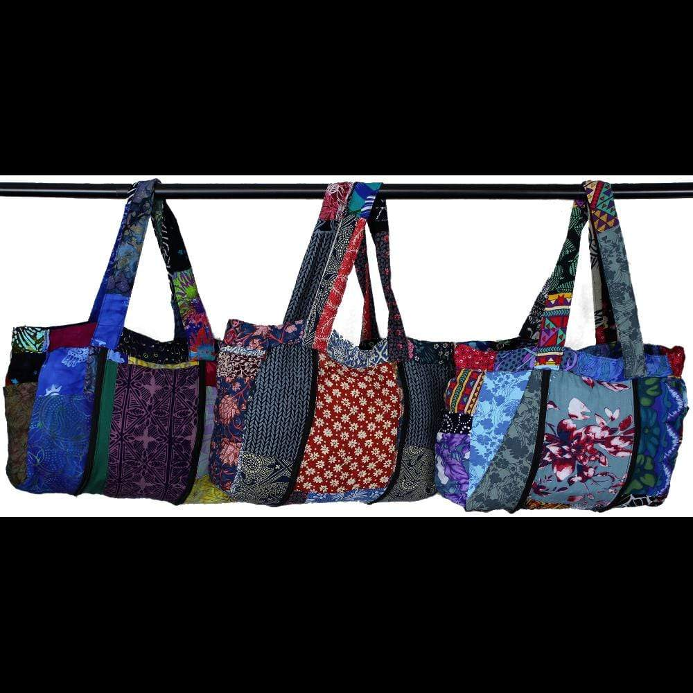 Patchwork Expandable Bag with Zippers-Bags & Accessories-Peaceful People