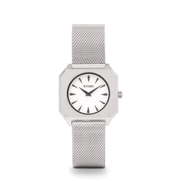 Watch 1A  -  White/Black with Mesh