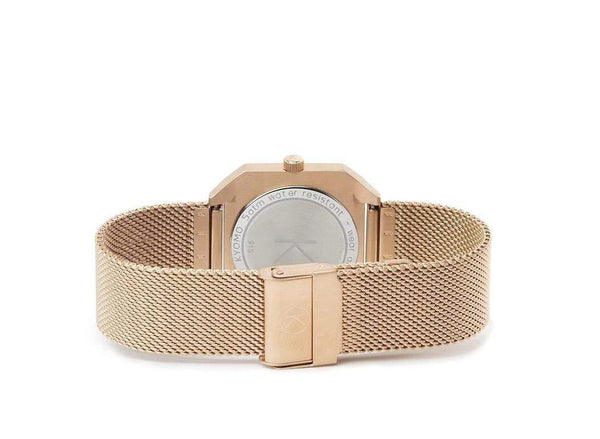 Watch 1D - White/Gold with Mesh