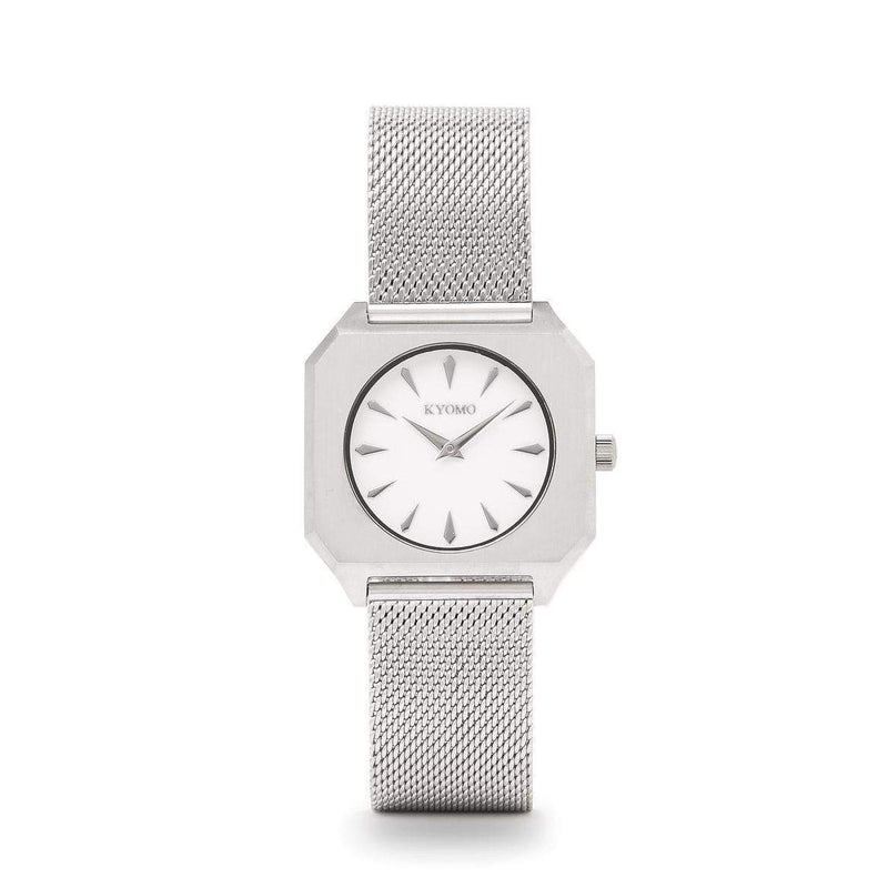 Watch 1E - White/Silver with Mesh