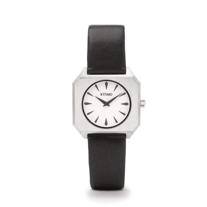 Watch 1F - White/Black with Leather