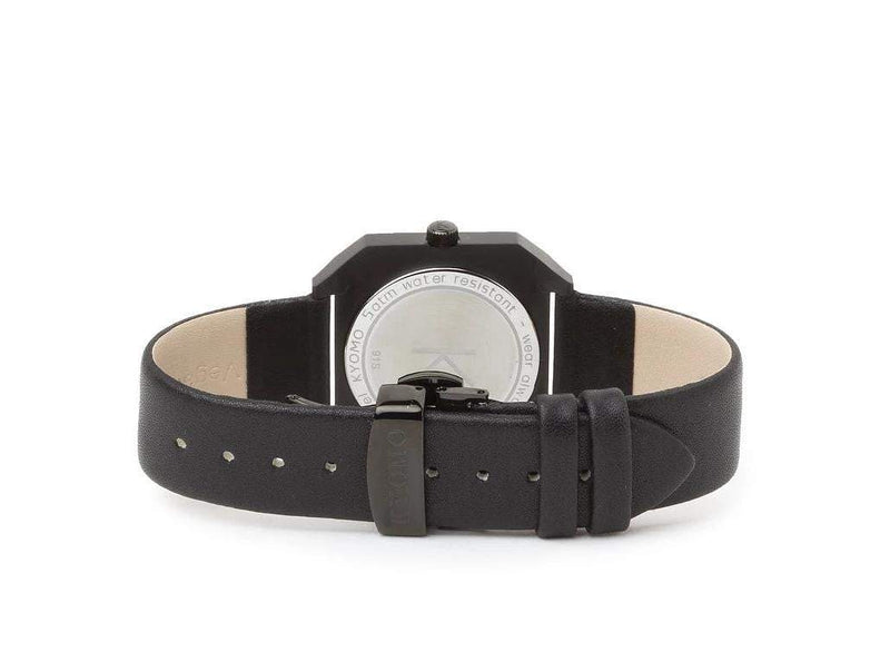 Watch 1G - Black/Black with Leather