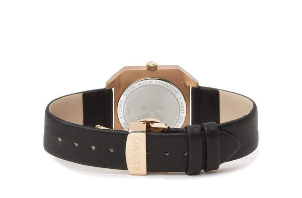 1H - Black/Gold with Leather