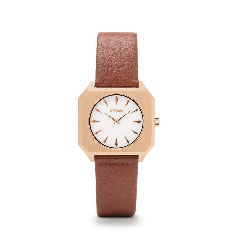 Watch 1I - White/Gold with Leather