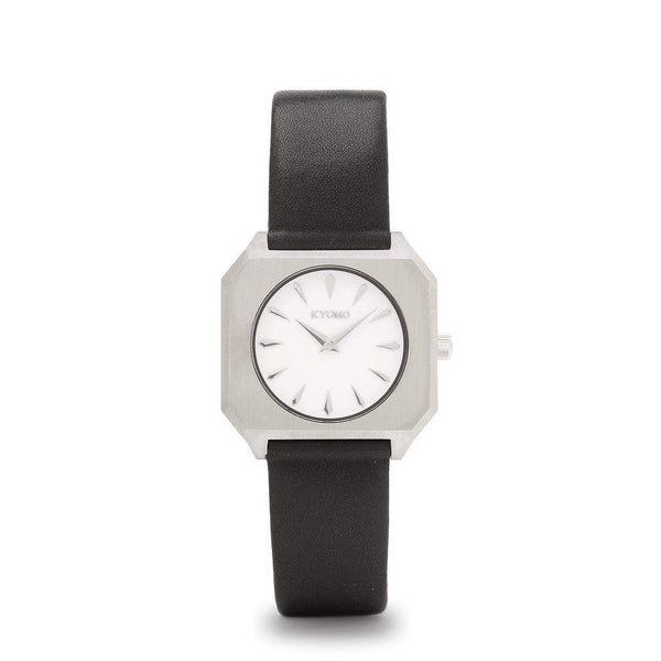 Watch 1M - White/Silver with Leather