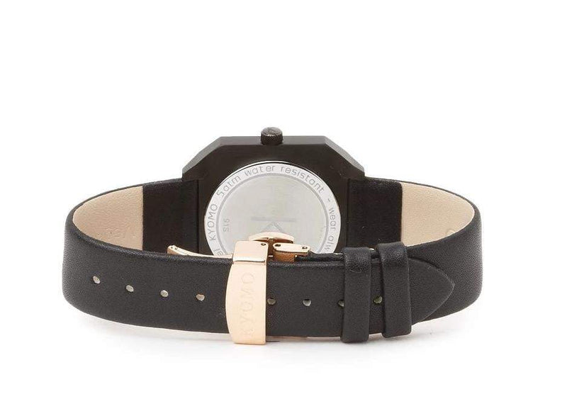 Watch 1N - Black/Gold with Leather