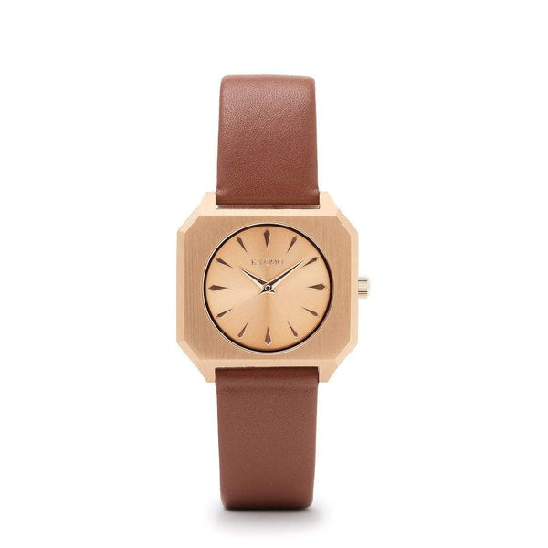 Watch 1O - Gold/Gold with Leather