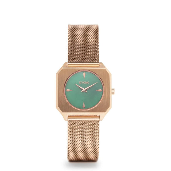 Watch 1K - Emerald/Gold with Mesh
