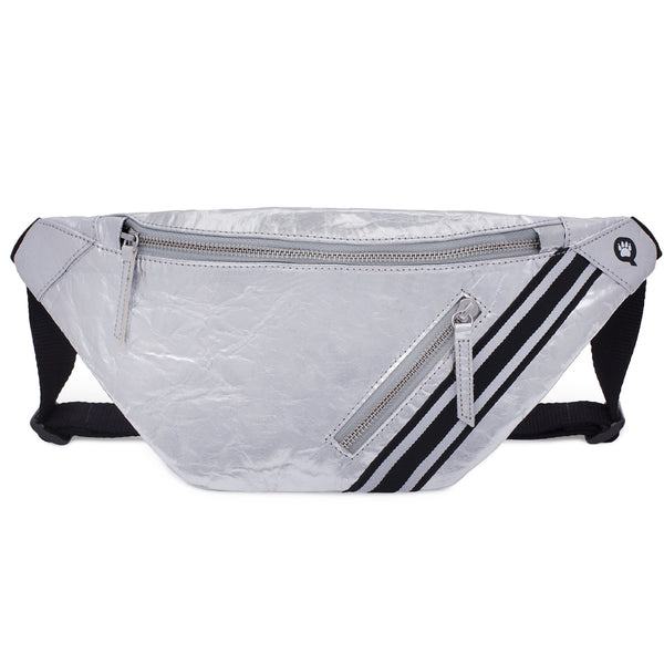 Street Sling, Vegan-Luxe-Sporty bag, made from pineapple fibers, Silver