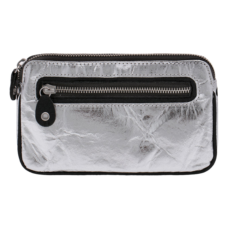 Urban Active, Convertible belt bag, Vegan, Silver and black