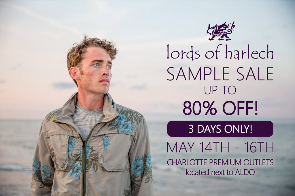 Lords of Harlech sample sale