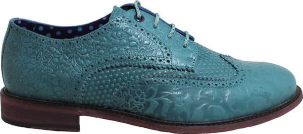FOLLIE Brogue in Teal - Lords Of Harlech
