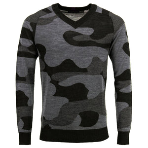 Vincent Vneck Sweater in Woolcamo Charcoal