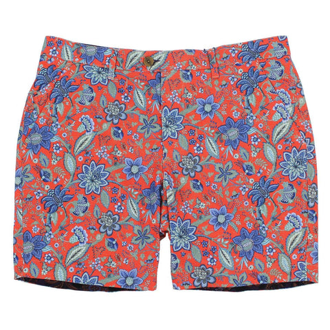 JOHN short Floral Canvas Coral