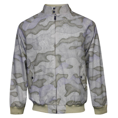 LARRY Linen Jacket Faded Camo Natural