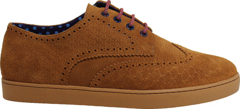 PEACOCK Brogue Sneaker in Sand