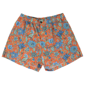 QUACK Swim short Floral Canvas Coral