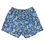 QUACK Swim short Floral Canvas Navy