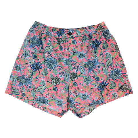 QUACK Swim short Floral Canvas Pink