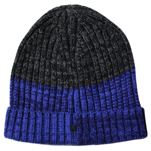 Benny Beanie in Blue/Charcoal