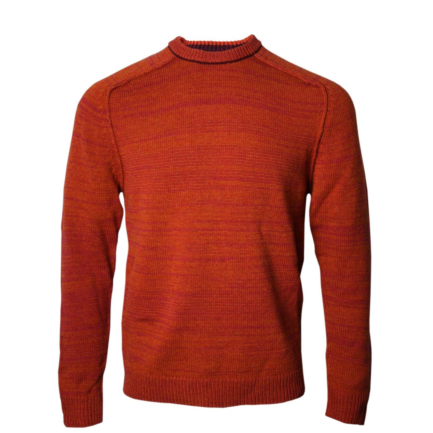 Crosby Crew Neck Sweater in Rust