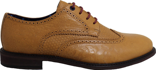 FOLLIE Brogue in Sand - Lords Of Harlech