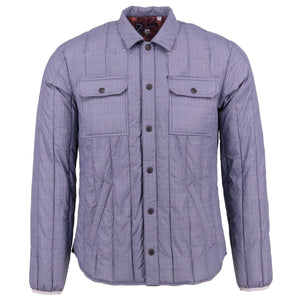 MONKEY Dogtooth Grey Down Shirt Jacket