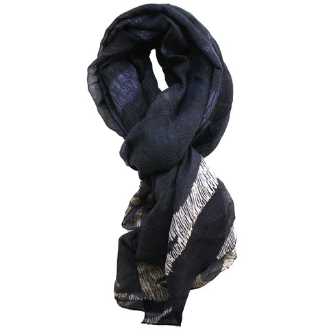 Scarf Scribble Camo Black
