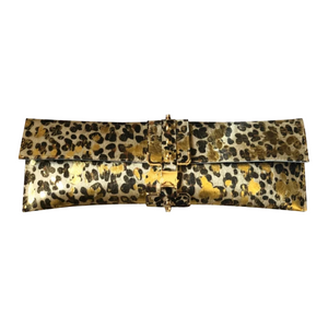 Elongated Clutch- Leopard