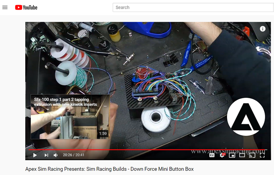 Apex Sim Racing Presents: Sim Racing Builds - Down Force Mini Button Box