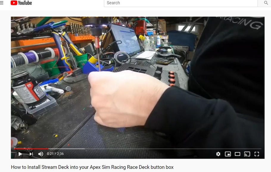 How to Install your Elegato Stream Deck into the Apex Sim Racing Race Deck button box