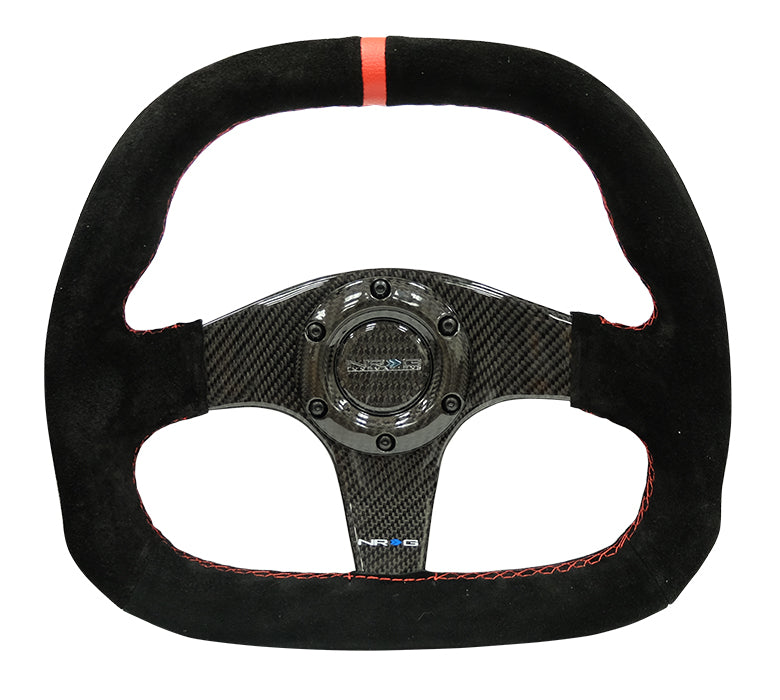 NRG - Suede / Carbon Fiber Steering Wheel - Apex Sim Racing LLC - Custom Sim Racing Products