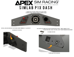 SimLab P1-X Dash Board - Apex Sim Racing LLC - Custom Sim Racing Products